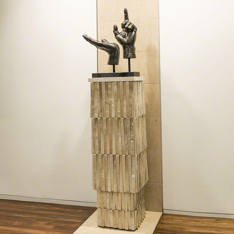 Global Views 9.92402 Teeter Totter Pedestal Stone Furniture Pedestals