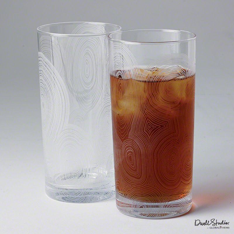 Global Views D6.60032 Malachite Tall Drinking Glass Clear Home Decor