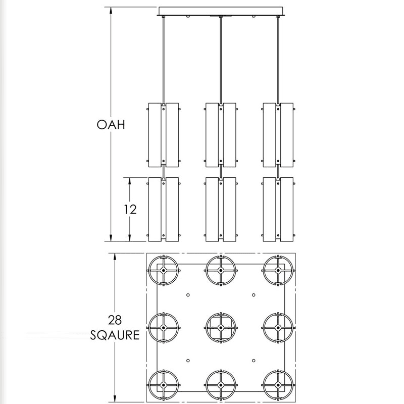 "Hammerton Studio CHB0016-09 Lattice 9 Light 27"" Wide Multi Light Sale $3995.00 ITEM#: 2960317 MODEL# :CHB0016-09-BS-F-C01-XX :"