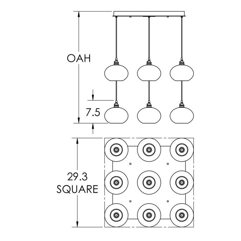 "Hammerton Studio CHB0036-09 Coppa 9 Light 29"" Wide Multi Light Pendant Sale $3995.00 ITEM#: 2960488 MODEL# :CHB0036-09-FB-XX-C01-E2 :"
