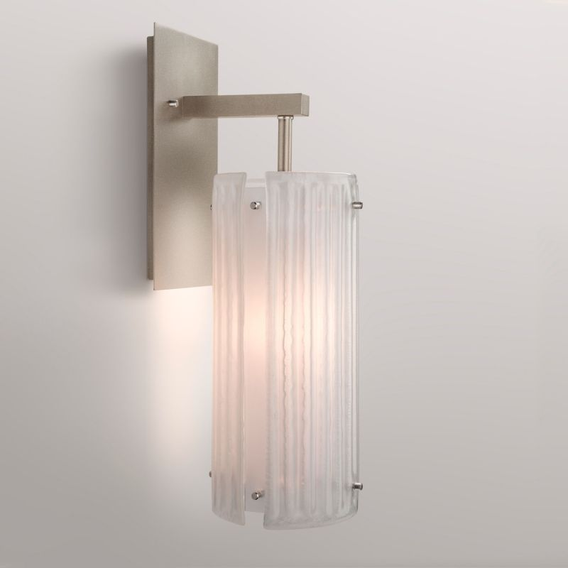 "Hammerton Studio IDB0015-18 Strata Single Light 17"" High Wall Sconce Sale $550.00 ITEM#: 2960714 MODEL# :IDB0015-18-BS-F-XX :"