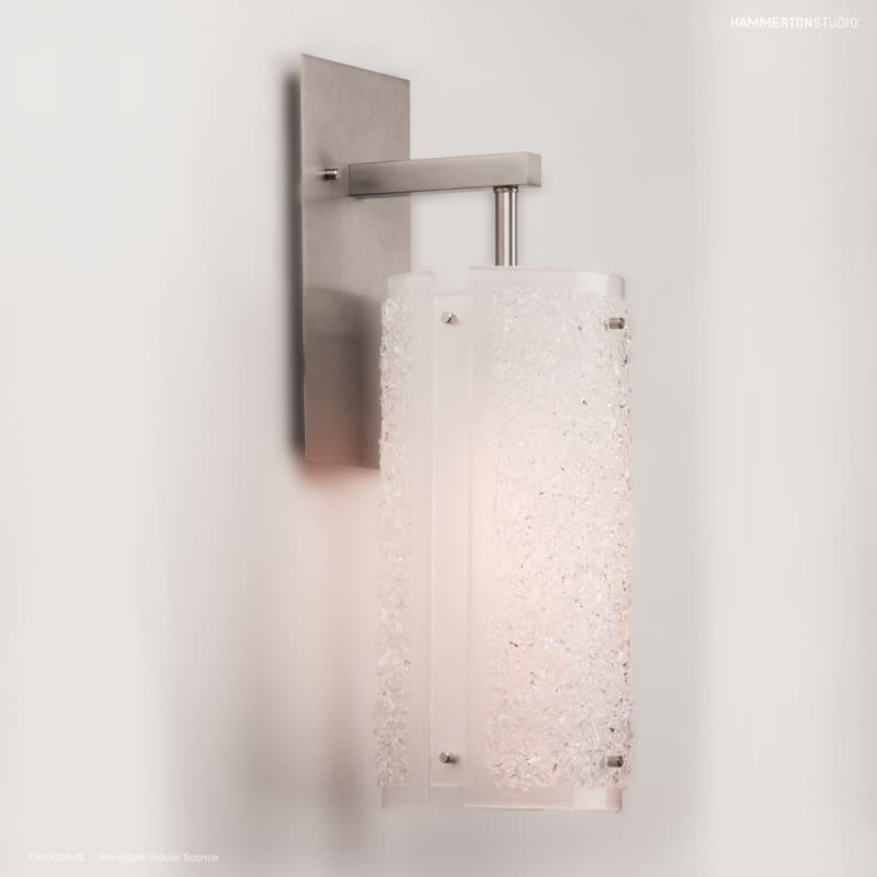 """Hammerton Studio IDB0009-18 Rimelight Single Light 17"""" High Wall Sale $550.00 ITEM#: 2960708 MODEL# :IDB0009-18-BS-XX-XX :"""