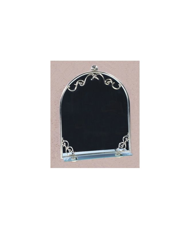 Herbeau 3130 Royale Collection Art Nouveau Mirror with Glass Shelf