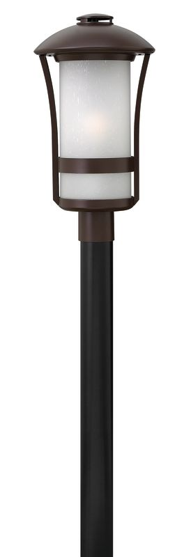 """Hinkley Lighting 2701-LED 1 Light LED Post Light from the Chandler Sale $395.00 ITEM#: 2635164 MODEL# :2701AR-LED UPC#: 640665270143 Features: Frosted glass shade to diffuse and soften light Made of aluminum Designed to cast a soft ambient light over a wide area Can be mounted facing upwards only Energy efficient Post not included Suitable for wet locations Fitter diameter = 3"""" Lamping Technology: LED - Light Emitting Diode: Highly efficient integrated diodes produce little heat and have an extremely long lifespan. Specifications: Bulb Included: Yes Bulb Type: LED Dark Sky: No Height: 20.5"""" LED: Yes Material: Aluminum Number of Bulbs: 1 Post Included: No Product Weight: 20.56 lbs Title 24: No UL Rating: Wet Location Voltage: 120v Wattage: 15 Watts Per Bulb: 15 Width: 11"""" (measured from furthest point left to furthest point right on fixture) Compliance: UL Listed - Indicates whether a product meets standards and compliance guidelines set by Underwriters Laboratories. This listing determines what types of rooms or environments a product can be used in safely. About Hinkley Lighting: Since 1922, Hinkley Lighting has been driven by a passion to blend design and function in creating quality products that enhance your life. Hinkley is continually recommended by interior and exterior designers, and is available to you through premier lighting showrooms across the country. They pride themselves in delivering superior customer service that is second to none. They know that you have goals when it comes to your home's décor, and they care about helping you achieve the final outcome you are looking for in every aspect. Hinkley Lighting provides post and pier mount lights that illuminate your exterior style, the welcoming statement to your home. :"""