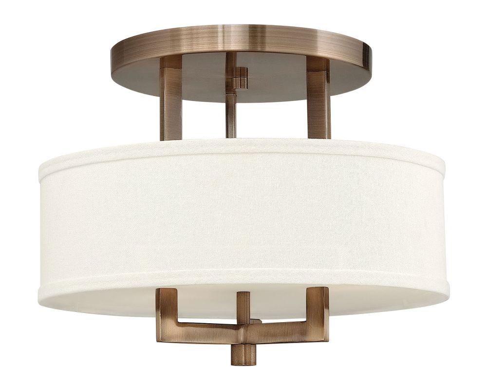 """Hinkley Lighting 3200-LED 1 Light 15"""" Width LED Semi-Flush Ceiling Sale $579.00 ITEM#: 2233884 MODEL# :3200BR-LED UPC#: 640665320039 :"""