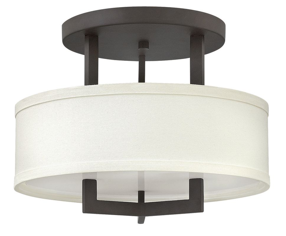 "Hinkley Lighting 3200 3 Light 15"" Width Semi-Flush Ceiling Fixture Sale $279.00 ITEM#: 2635730 MODEL# :3200KZ UPC#: 640665320084 :"