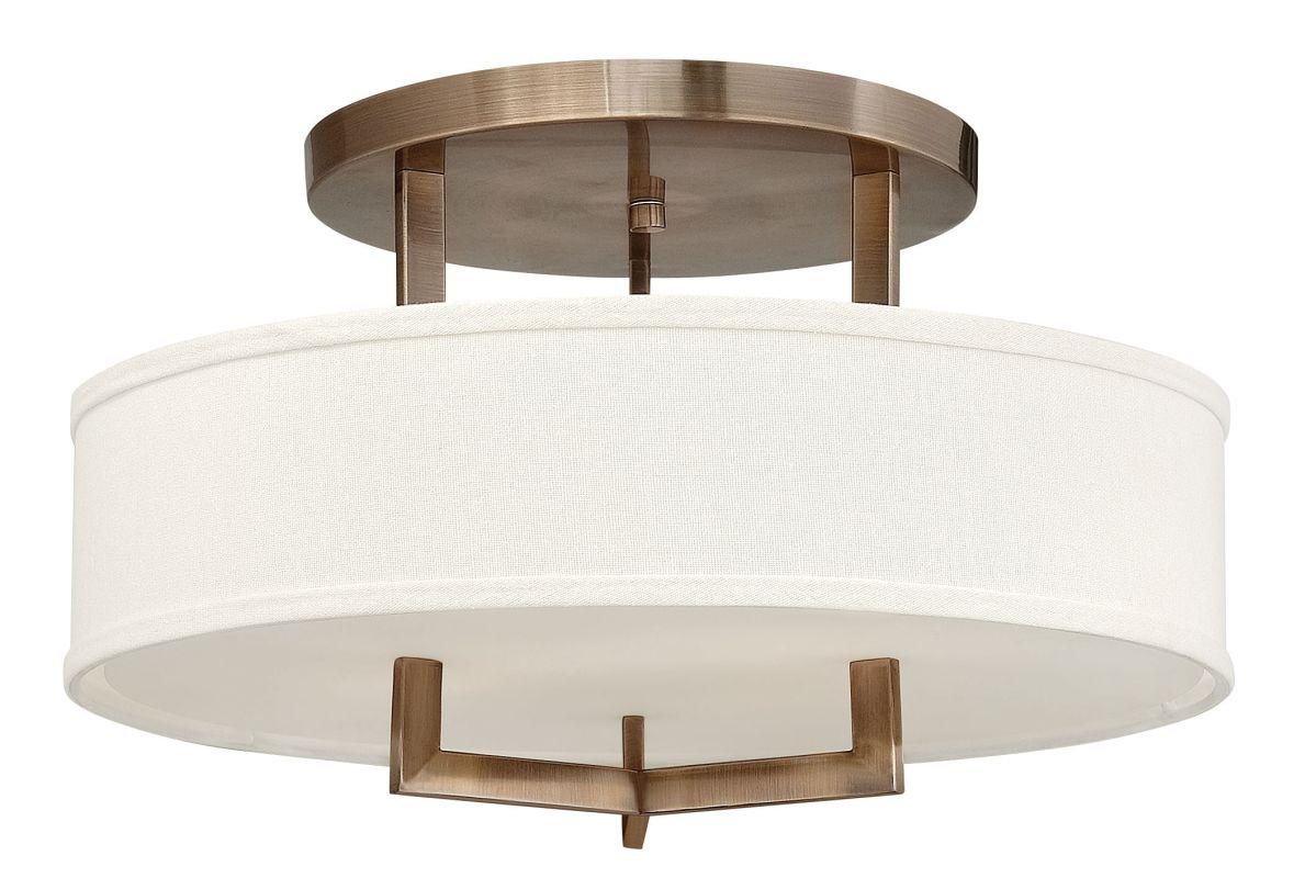 """Hinkley Lighting 3201-LED 1 Light 20"""" Width LED Semi-Flush Ceiling"""
