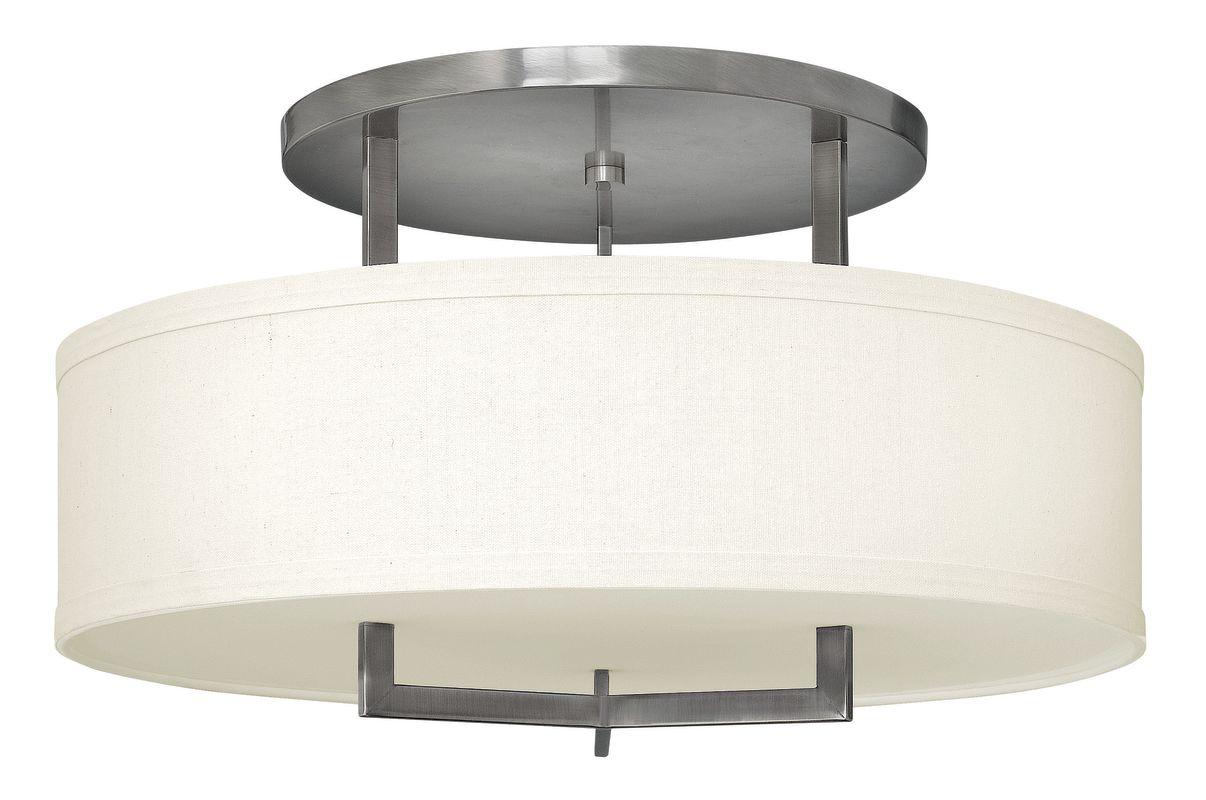 Hinkley Lighting 3211-GU24 3 Light Title 24 Fluorescent Semi-Flush Sale $689.00 ITEM#: 2635764 MODEL# :3211AN-GU24 UPC#: 640665321142 :