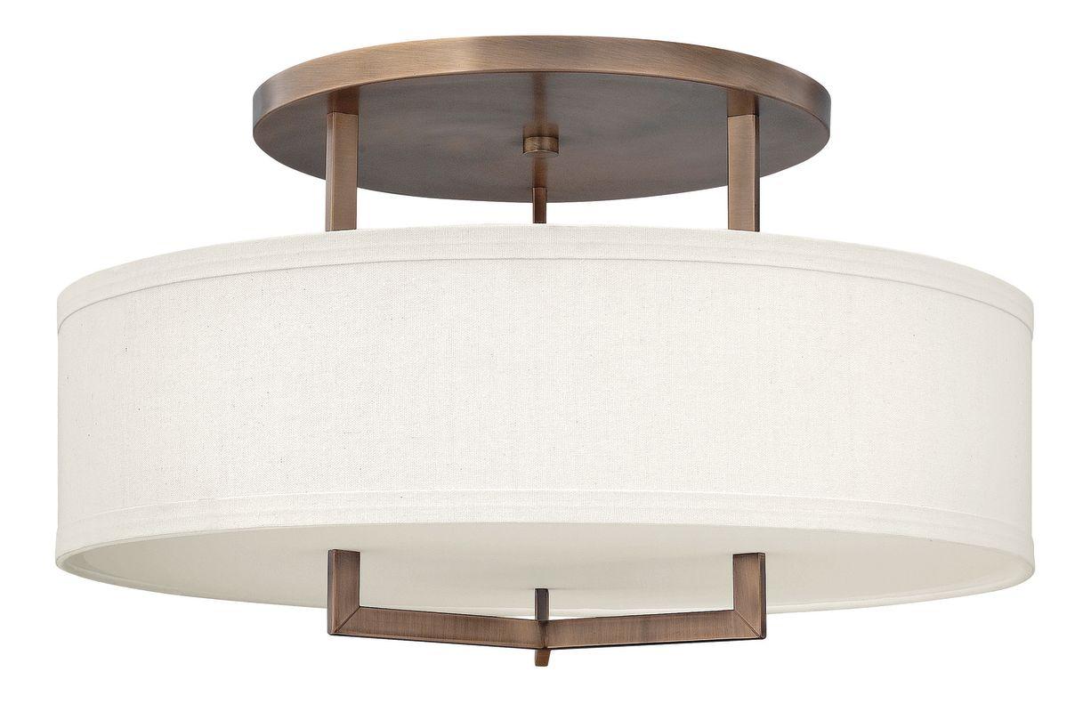 Hinkley Lighting 3211-GU24 3 Light Title 24 Fluorescent Semi-Flush Sale $689.00 ITEM#: 2635765 MODEL# :3211BR-GU24 UPC#: 640665321166 :