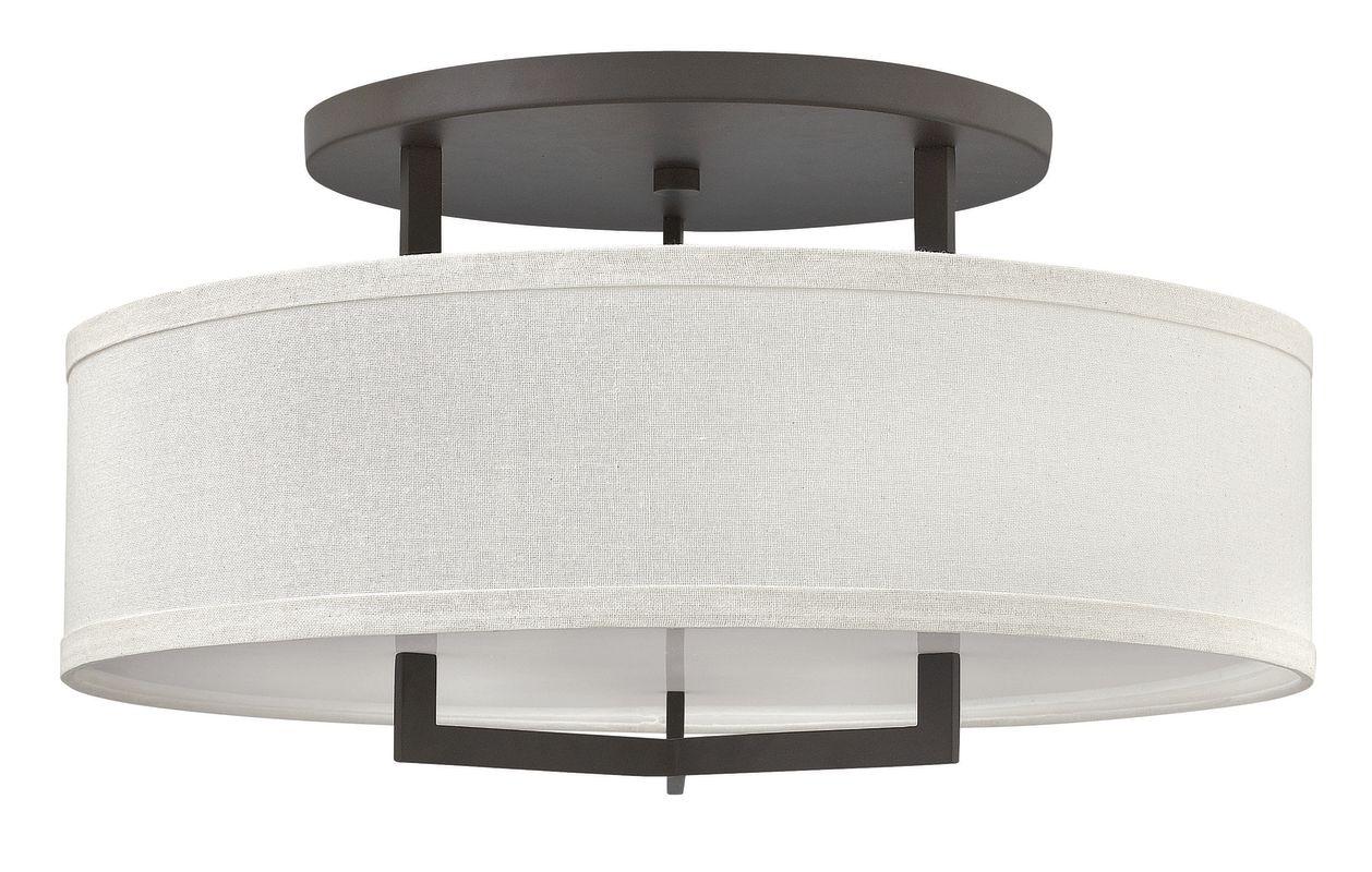 Hinkley Lighting 3211-GU24 3 Light Title 24 Fluorescent Semi-Flush Sale $689.00 ITEM#: 2635767 MODEL# :3211KZ-GU24 UPC#: 640665321197 :