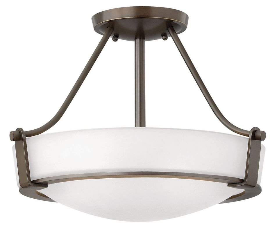 Hinkley Lighting 3220 3 Light Semi-Flush Ceiling Fixture from the Sale $239.00 ITEM#: 2635786 MODEL# :3220OB-WH UPC#: 640665322088 :