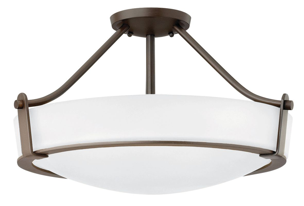 Hinkley Lighting 3221-GU24 4 Light Title 24 Fluorescent Semi-Flush Sale $409.00 ITEM#: 2635792 MODEL# :3221OB-WH-GU24 UPC#: 640665322286 :
