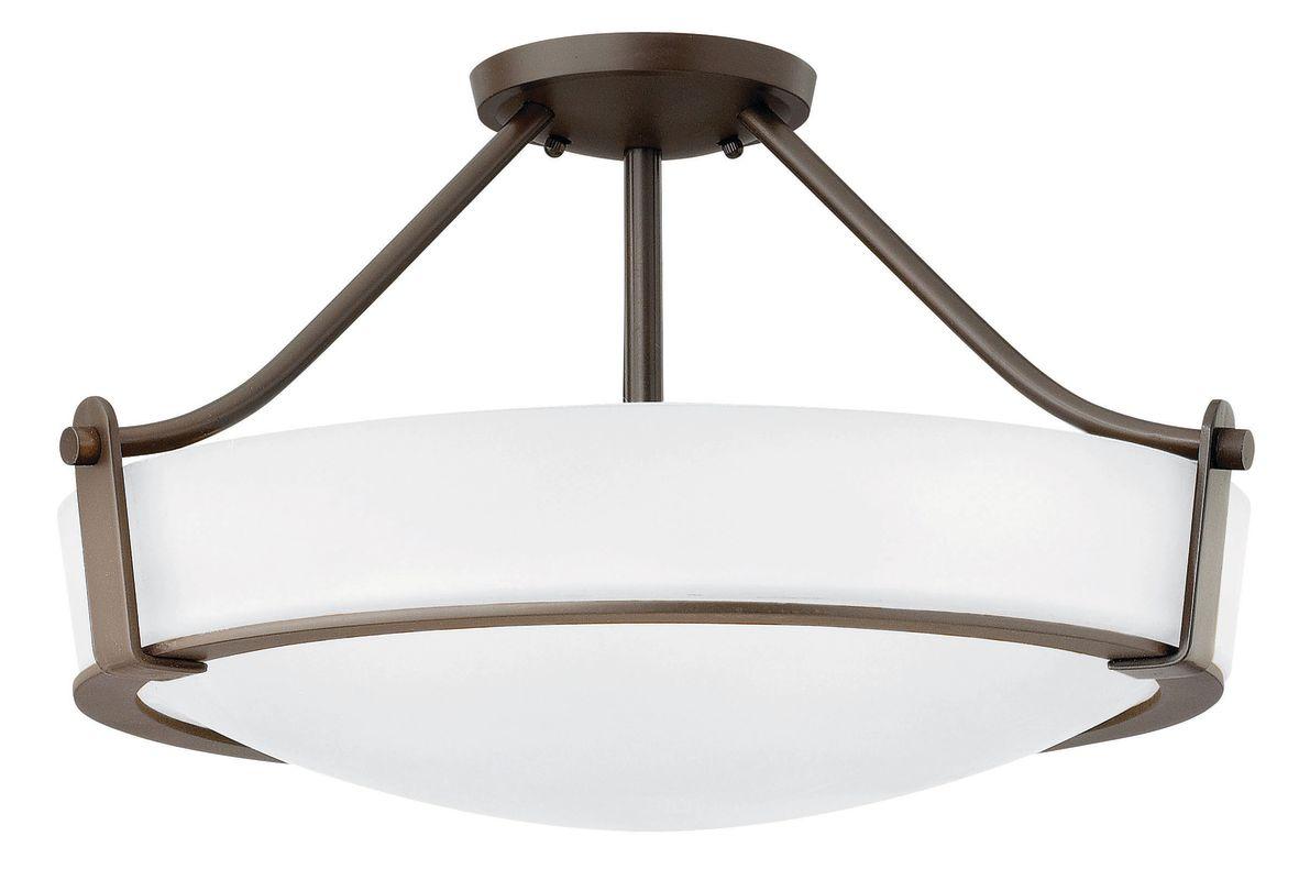 """Hinkley Lighting 3221-LED 1 Light 20.75"""" Width LED Semi-Flush Ceiling"""