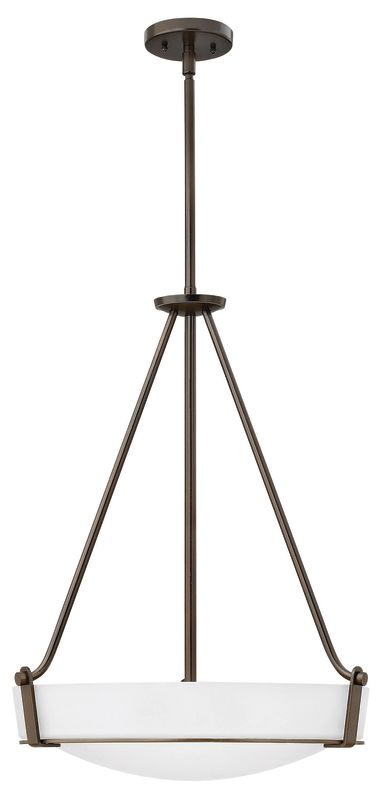 Hinkley Lighting 3222 4 Light Full Sized Foyer Pendant from the Sale $439.00 ITEM#: 2635796 MODEL# :3222OB-WH UPC#: 640665322361 :