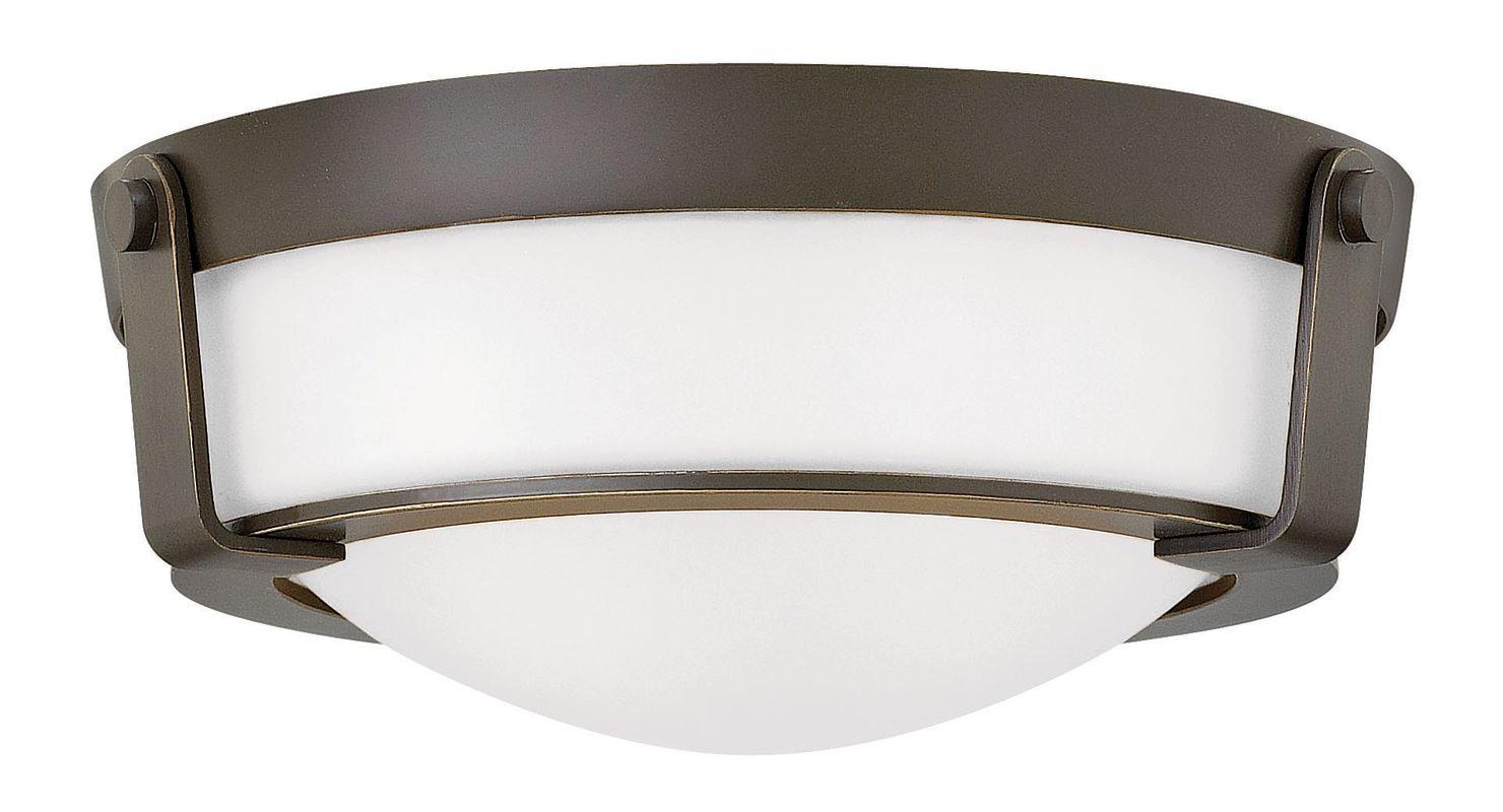 Hinkley Lighting 3223 2 Light Flush Mount Ceiling Fixture from the Sale $249.00 ITEM#: 2635199 MODEL# :3223OB-WH UPC#: 640665322392 :