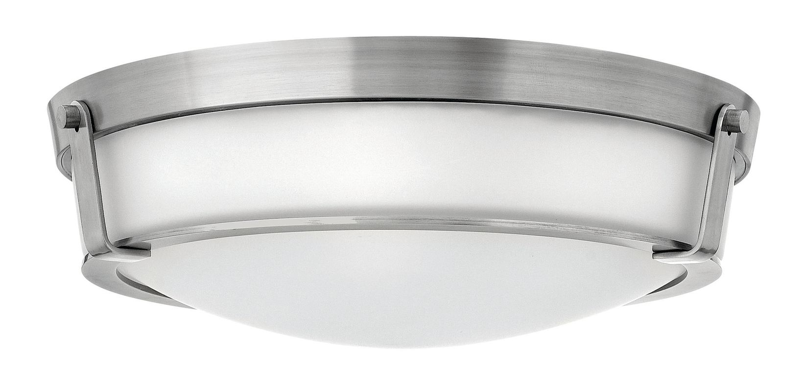 "Hinkley Lighting 3226-LED 1 Light LED Flush Mount Ceiling Fixture from Sale $749.00 ITEM#: 2635215 MODEL# :3226AN-LED UPC#: 640665322637 Single Light LED Flush Mount Ceiling Fixture from the Hathaway Collection Features: Etched glass dome shade included with the Antique Nickel finish Etched Amber glass dome shade Included with the Olde Bronze finish White glass dome shade included with the Olde Bronze / White finish Etched glass shades offer creative patterns and designs Made of steel Designed to cast light in a downward direction Energy efficient Suitable for dry locations Lamping Technology: LED - Light Emitting Diode: Highly efficient diodes produce little heat and have an extremely long lifespan. Specifications: Bulb Included: Yes Bulb Type: LED Canopy Diameter: 20.5"" Height: 6.25"" (measured from ceiling to bottom most point of fixture) LED: Yes Location Rating: Dry Location Material: Steel Number of Bulbs: 1 Product Weight: 18 lbs Shade Height: 4.875"" Shade Width: 19"" Sloped Ceiling Compatible: No Title 24: No UL Rating: Dry Location Voltage: 120v Wattage: 48 Watts Per Bulb: 48 Width: 21.25"" (measured from furthest point left to furthest point right on fixture) Compliance: UL Listed - Indicates whether a product meets standards and compliance guidelines set by Underwriters Laboratories. This listing determines what types of rooms or environments a product can be used in safely. About Hinkley Lighting: Since 1922, Hinkley Lighting has been driven by a passion to blend design and function in creating quality products that enhance your life. Hinkley is continually recommended by interior and exterior designers, and is available to you through premier lighting showrooms across the country. They pride themselves in delivering superior customer service that is second to none. They know that you have goals when it comes to your home's décor, and they care about helping you achieve the final outcome you are looking for in every aspect. :"