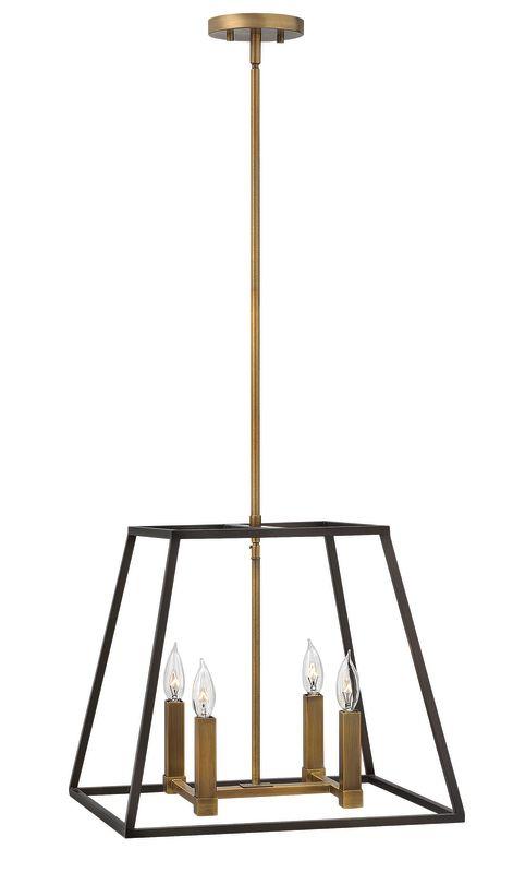 "Hinkley Lighting 3334 4 Light 16.25"" Height Indoor Lantern Pendant"