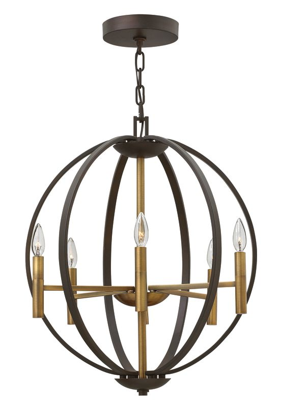 Hinkley Lighting 3466 6 Light 1 Tier Globe Chandelier from the Euclid Sale $949.00 ITEM#: 2635294 MODEL# :3466SB UPC#: 640665346602 :