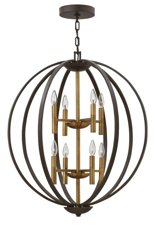 Hinkley Lighting 3468 8 Light Large Foyer Pendant from the Euclid Sale $1349.00 ITEM#: 2635295 MODEL# :3468SB UPC#: 640665346800 :