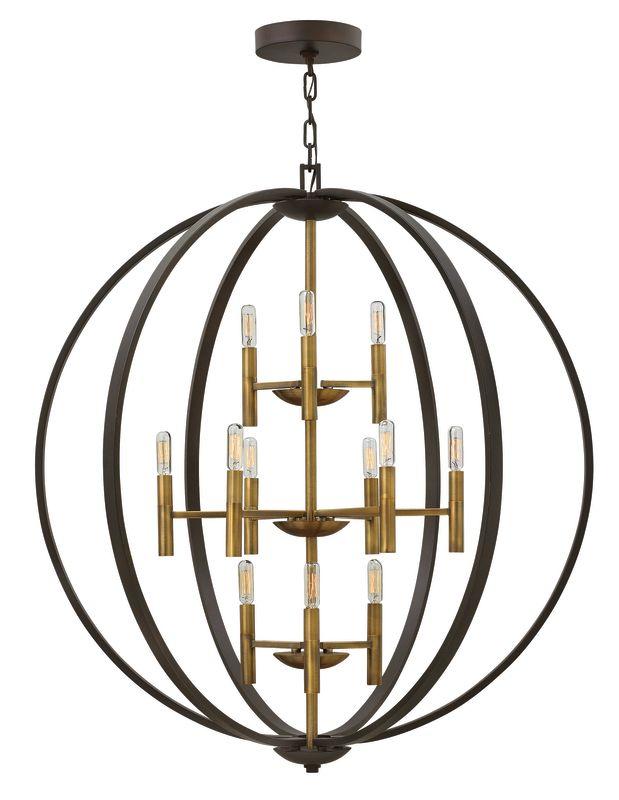 Hinkley Lighting 3469 12 Light Large Foyer Pendant from the Euclid Sale $1699.00 ITEM#: 2635296 MODEL# :3469SB UPC#: 640665346909 :