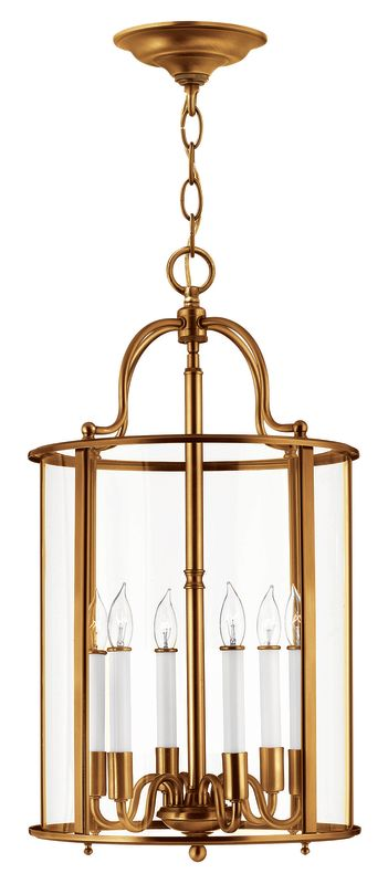 Hinkley Lighting 3478 6 Light Full Sized Foyer Pendant from the Gentry Sale $749.00 ITEM#: 2635305 MODEL# :3478HR UPC#: 640665347845 :