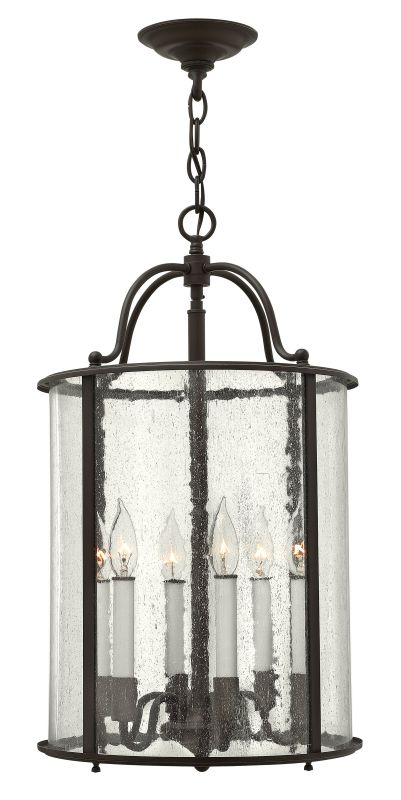 Hinkley Lighting 3478 6 Light Full Sized Foyer Pendant from the Gentry Sale $599.00 ITEM#: 2233938 MODEL# :3478OB UPC#: 640665347807 :