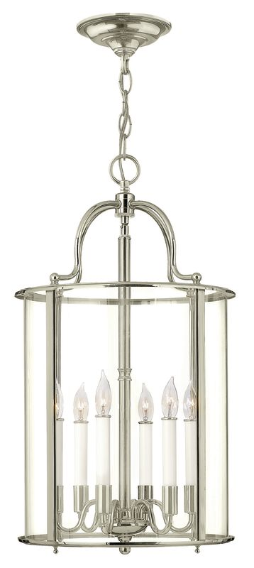 Hinkley Lighting 3478 6 Light Full Sized Foyer Pendant from the Gentry Sale $749.00 ITEM#: 2635306 MODEL# :3478PN UPC#: 640665347838 :