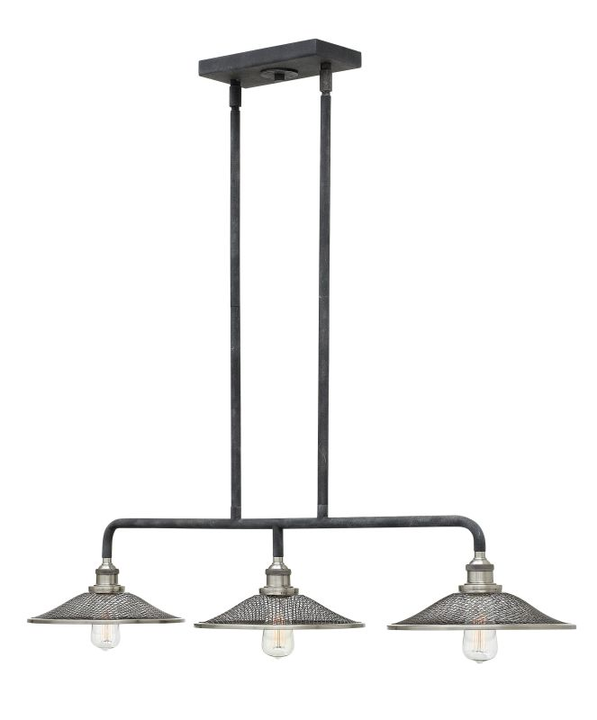 Hinkley Lighting 4364 3 Light 1 Tier Linear Chandelier from the Rigby