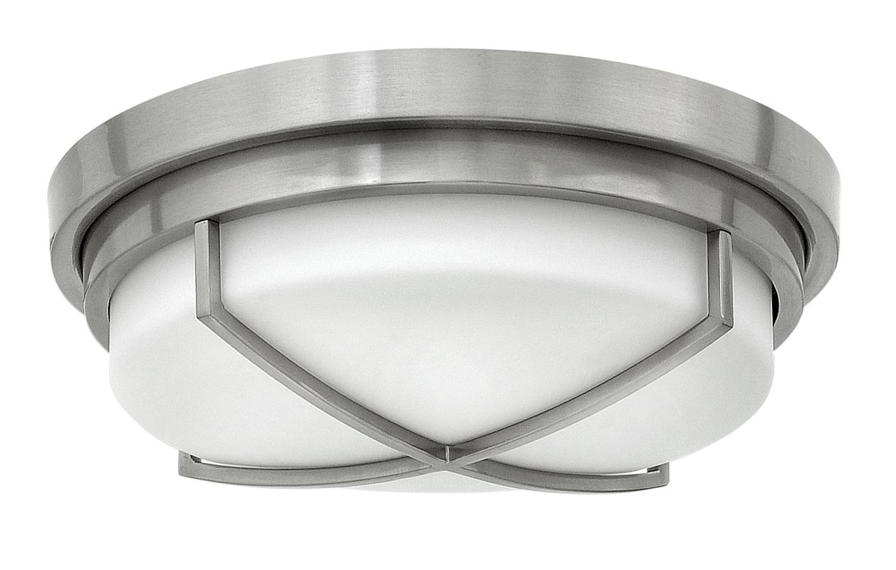 Hinkley Lighting 4381 2 Light Flush Mount Ceiling Fixture with Frosted