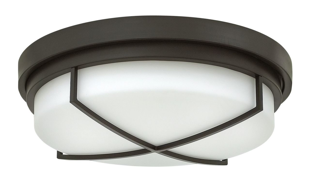 Hinkley Lighting 4382 3 Light Flush Mount Ceiling Fixture with Frosted