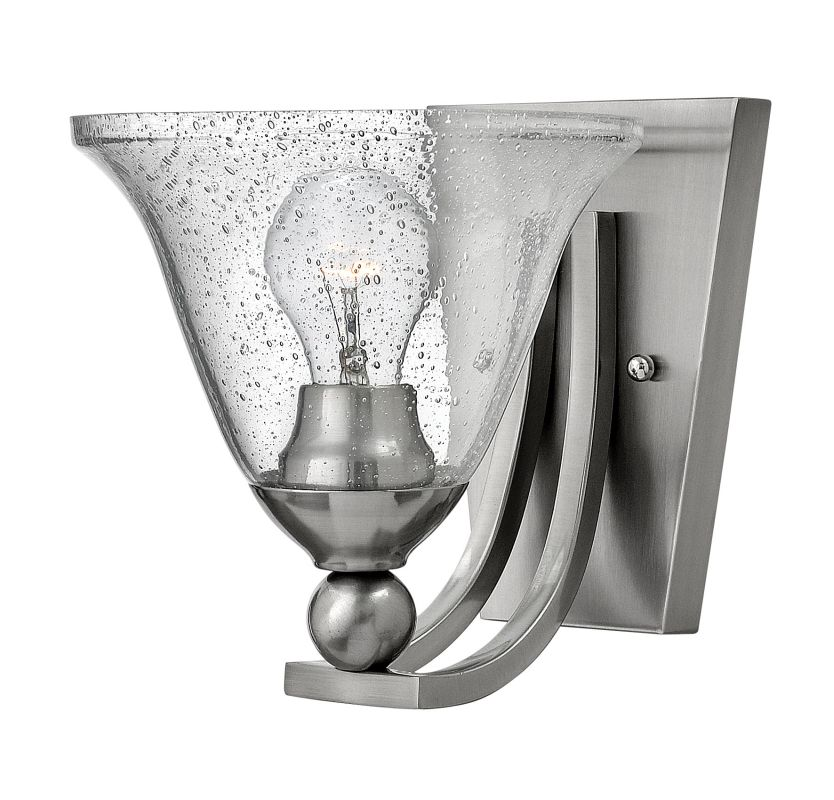Hinkley Lighting 4650 1 Light Wall Sconce from the Bolla Collection Sale $99.00 ITEM#: 1399354 MODEL# :4650BN-CL UPC#: 640665465075 :