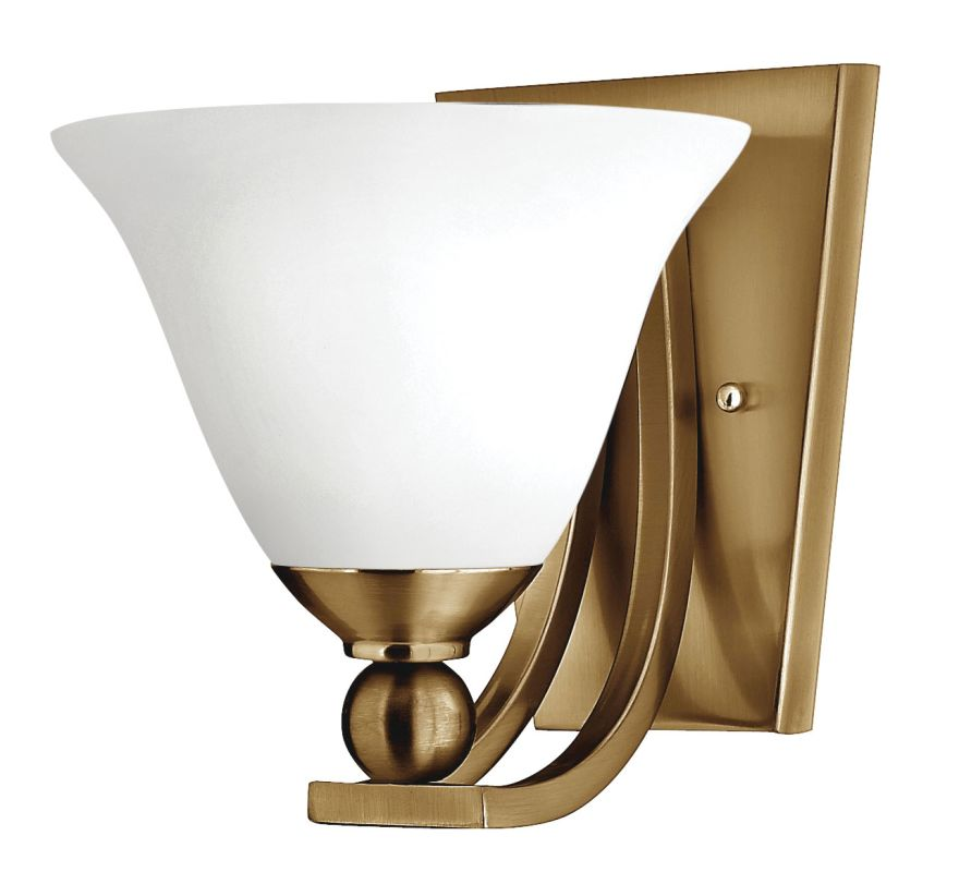 Hinkley Lighting 4650 1 Light Wall Sconce from the Bolla Collection Sale $99.00 ITEM#: 2736650 MODEL# :4650BR-OP UPC#: 640665465570 :