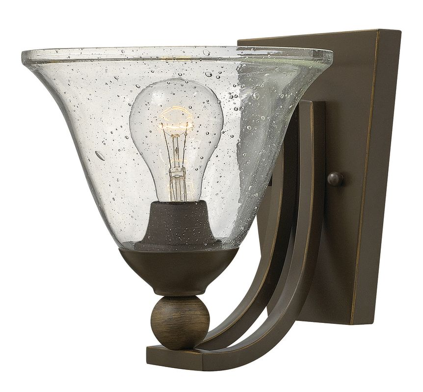 Hinkley Lighting 4650 1 Light Wall Sconce from the Bolla Collection Sale $99.00 ITEM#: 2635402 MODEL# :4650OB-CL UPC#: 640665465051 :