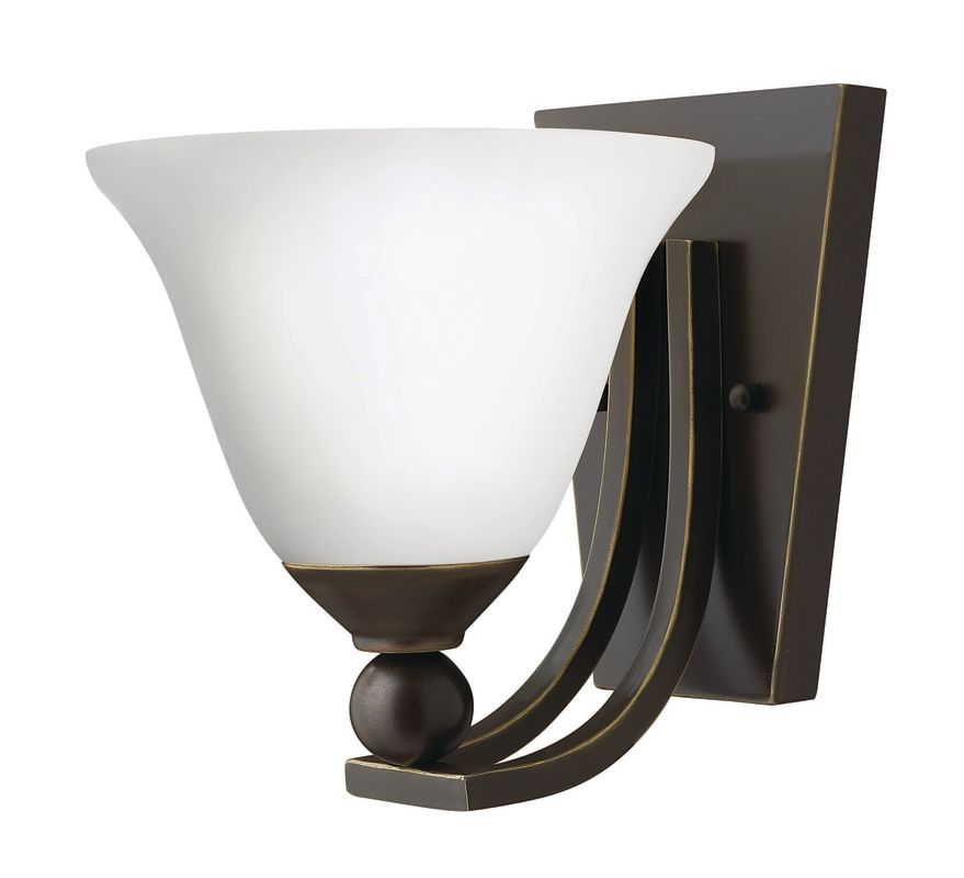 Hinkley Lighting 4650-OP-GU24 1 Light Indoor Wall Sconce with Etched Sale $109.00 ITEM#: 2362171 MODEL# :4650OB-OP-GU24 UPC#: 640665465181 :