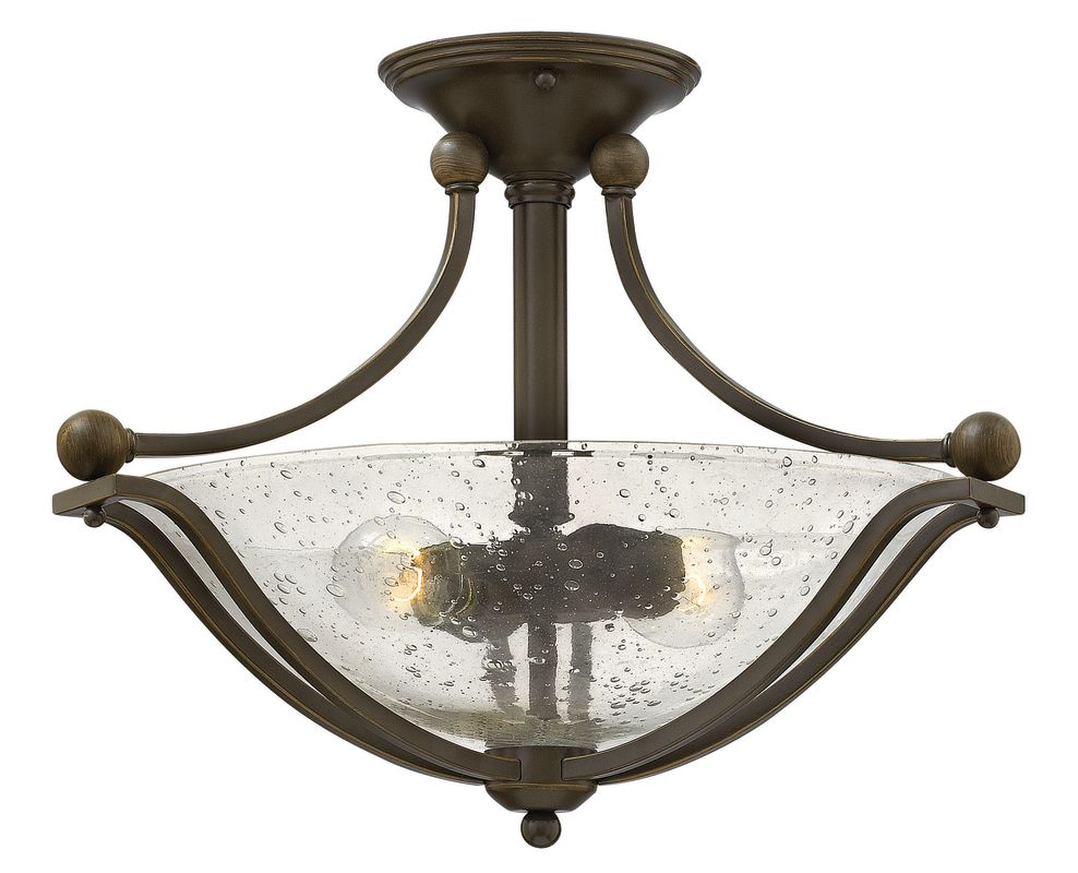 """Hinkley Lighting 4651 2 Light 19.25"""" Width Semi-Flush Ceiling Fixture"""