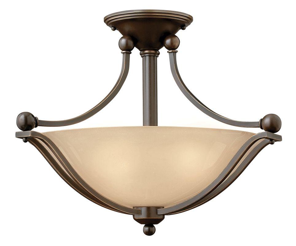 """Hinkley Lighting 4651-LED 1 Light 19.25"""" Width LED Semi-Flush Ceiling"""