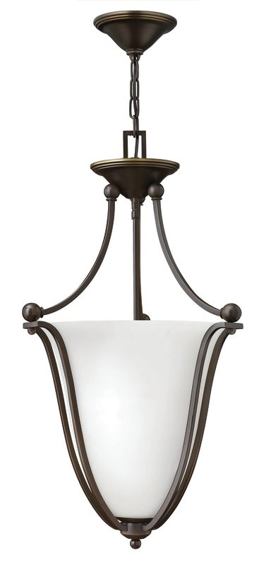 Hinkley Lighting 4663-OPAL 3 Light Indoor Urn Pendant with Etched Opal