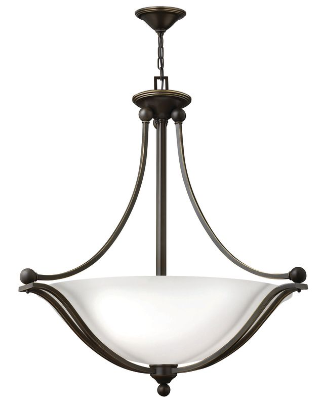 Hinkley Lighting 4664-OPAL 4 Light Indoor Bowl Shaped Pendant with