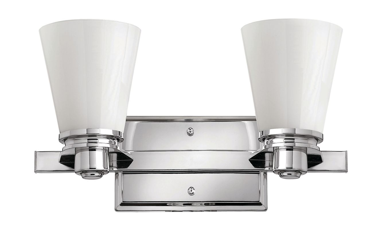 Hinkley Lighting 5552-LED 2 Light LED Bathroom Vanity Light from the Sale $289.00 ITEM#: 2635555 MODEL# :5552CM-LED UPC#: 640665555493 :