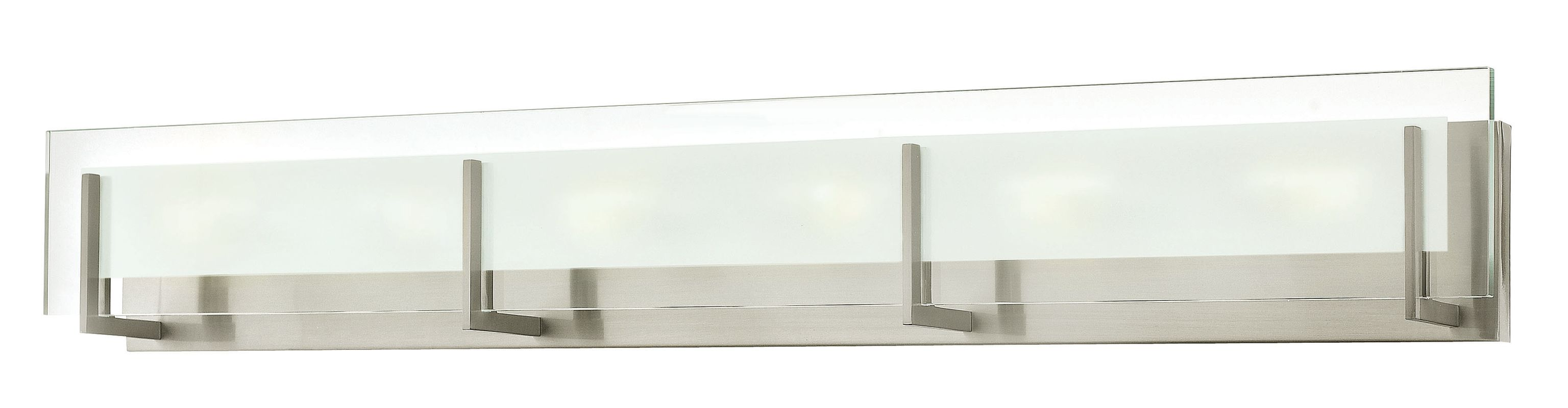 """Hinkley Lighting 5656-LED 6 Light ADA Compliant LED Bath Bar from the Sale $679.00 ITEM#: 2635597 MODEL# :5656BN-LED2 UPC#: 640665565652 Six Light ADA Compliant LED Bath Bar from the Latitude Collection Features: Clear Beveled Inside-Etched glass rectangle shade Etched glass shades offer creative patterns and designs Made of steel Designed to cast a soft ambient light over a wide area Can be mounted facing upwards only Energy efficient ADA Compliant Suitable for damp locations Lamping Technology: LED - Light Emitting Diode: Highly efficient diodes produce little heat and have an extremely long lifespan. Specifications: Backplate Height: 4.75"""" Backplate Width: 36.25"""" Bulb Included: Yes Bulb Type: LED Extension: 4"""" (measured from mounting surface to furthest protruding point on fixture) Full Backplate: Yes HCO: 3.25"""" (height from center of outlet) Height: 5.75"""" LED: Yes Material: Steel Number of Bulbs: 6 Product Weight: 14 lbs Shade Height: 4.75"""" Shade Width: 18"""" Sloped Ceiling Compatible: No Title 24: No UL Rating: Damp Location Voltage: 120v Wattage: 39.6 Watts Per Bulb: 6.6 Compliance: UL Listed - Indicates whether a product meets standards and compliance guidelines set by Underwriters Laboratories. This listing determines what types of rooms or environments a product can be used in safely. ADA Compliance - The Americans with Disabilities Act (ADA). Fixtures hung between 27"""" and 80"""" above the floor must have an extension of 4"""" or less; this applies to wall lights hung in walkways, halls, corridors, passageways or aisles. Ceiling Fixtures must be hung no lower than 80"""". About Hinkley Lighting: Since 1922, Hinkley Lighting has been driven by a passion to blend design and function in creating quality products that enhance your life. Hinkley is continually recommended by interior and exterior designers, and is available to you through premier lighting showrooms across the country. They pride themselves in delivering superior customer service that is second to none. The"""
