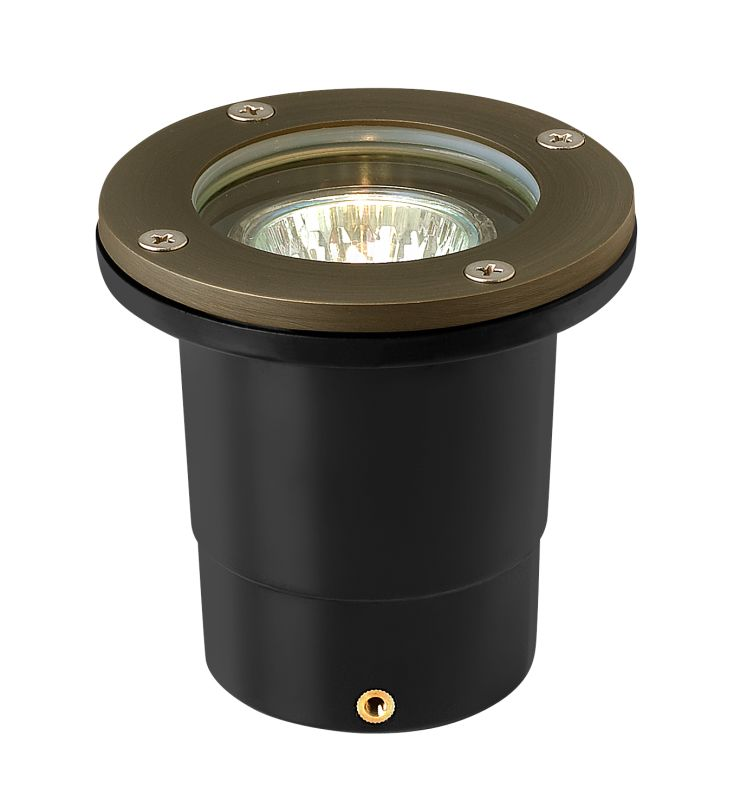 "Hinkley Lighting 16701 12v 20w Solid Brass 4"" Diameter Landscape Flat"