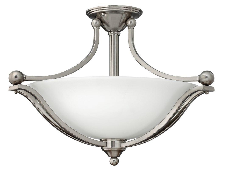 Hinkley Lighting 4669 3 Light Indoor Semi-Flush Ceiling Fixture from Sale $369.00 ITEM#: 1709970 MODEL# :4669BN UPC#: 640665466904 :