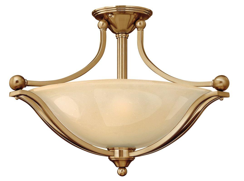 Hinkley Lighting 4669 3 Light Indoor Semi-Flush Ceiling Fixture from Sale $369.00 ITEM#: 1709971 MODEL# :4669BR UPC#: 640665466911 :