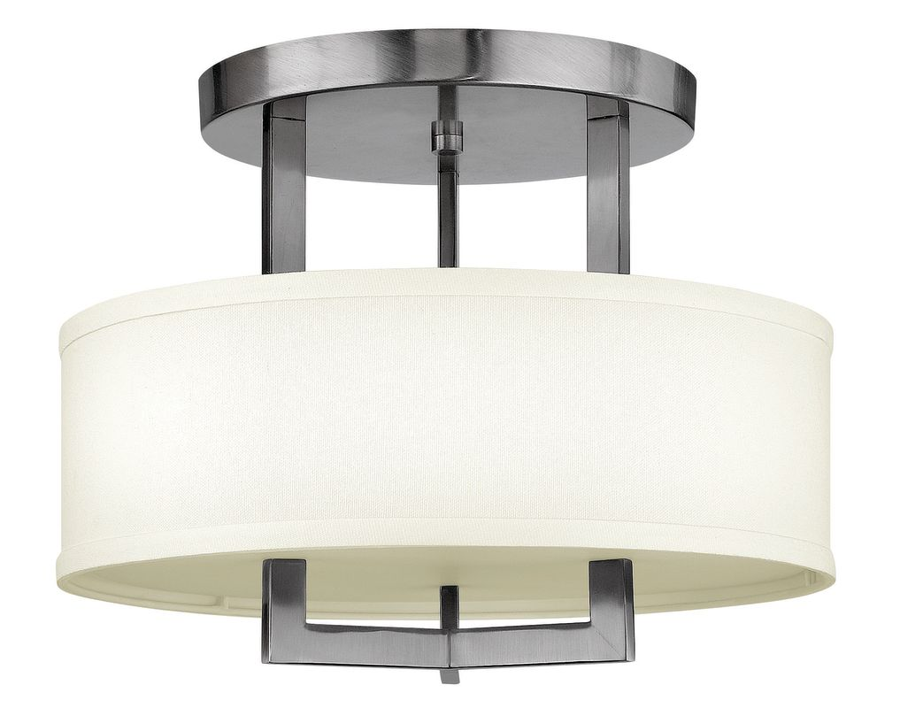 "Hinkley Lighting 3200 3 Light 15"" Width Semi-Flush Ceiling Fixture Sale $279.00 ITEM#: 1398943 MODEL# :3200AN UPC#: 640665320015 :"