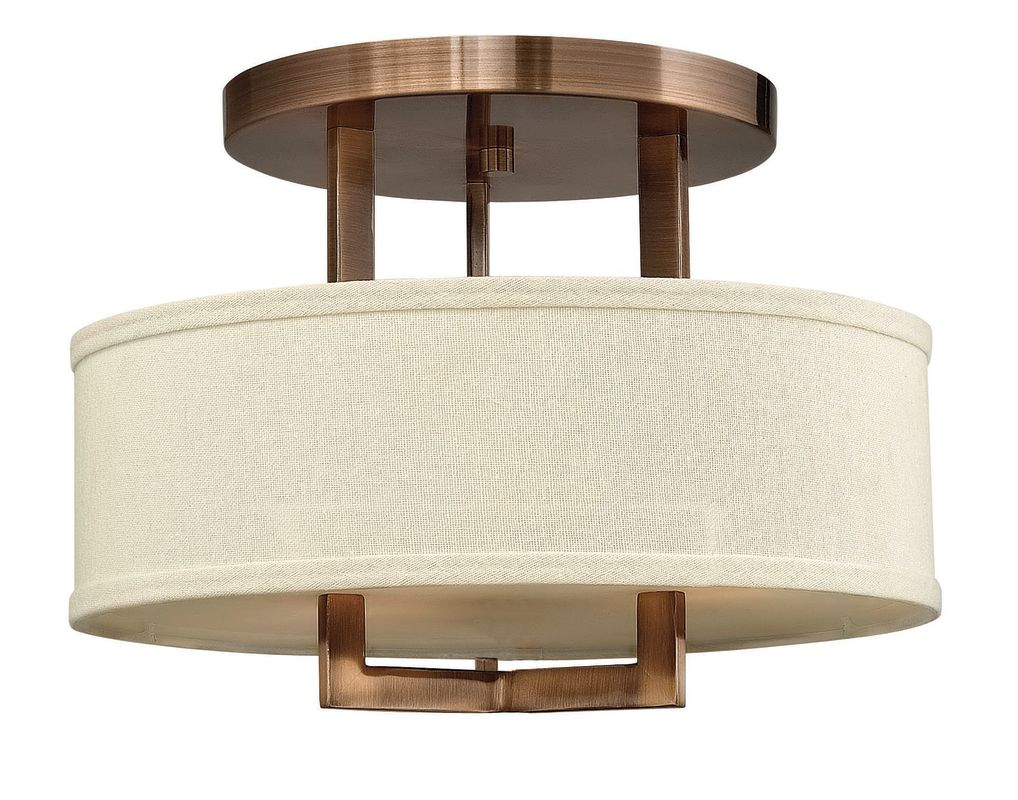 "Hinkley Lighting 3200 3 Light 15"" Width Semi-Flush Ceiling Fixture Sale $279.00 ITEM#: 1056097 MODEL# :3200BR UPC#: 640665320008 :"