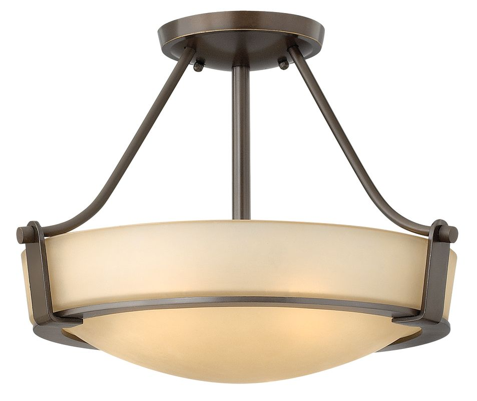 Hinkley Lighting 3220 3 Light Semi-Flush Ceiling Fixture from the Sale $239.00 ITEM#: 1431855 MODEL# :3220OB UPC#: 640665322019 :