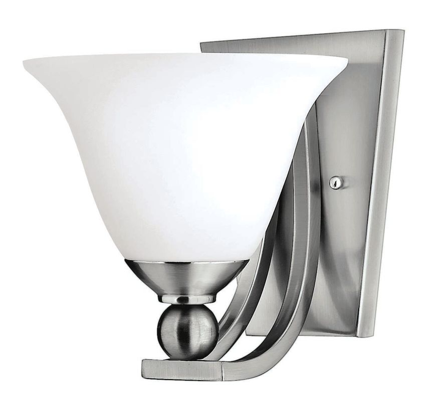 Hinkley Lighting H4650 1 Light Indoor Wall Sconce from the Bolla Sale $99.00 ITEM#: 311638 MODEL# :4650BN UPC#: 640665465013 :