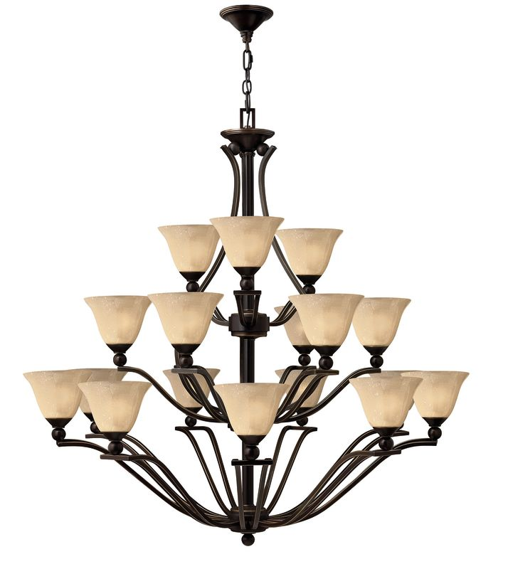 Hinkley Lighting H4659 Bolla 18 Light 3 Tier Chandelier Olde Bronze Sale $2099.00 ITEM#: 311655 MODEL# :4659OB UPC#: 640665465921 :