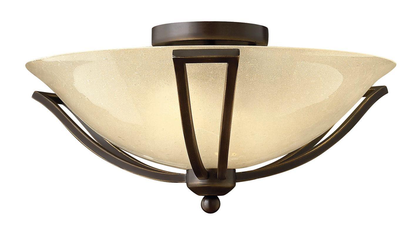 """Hinkley Lighting H4660 2 Light 16.75"""" Width Indoor Semi-Flush Ceiling"""