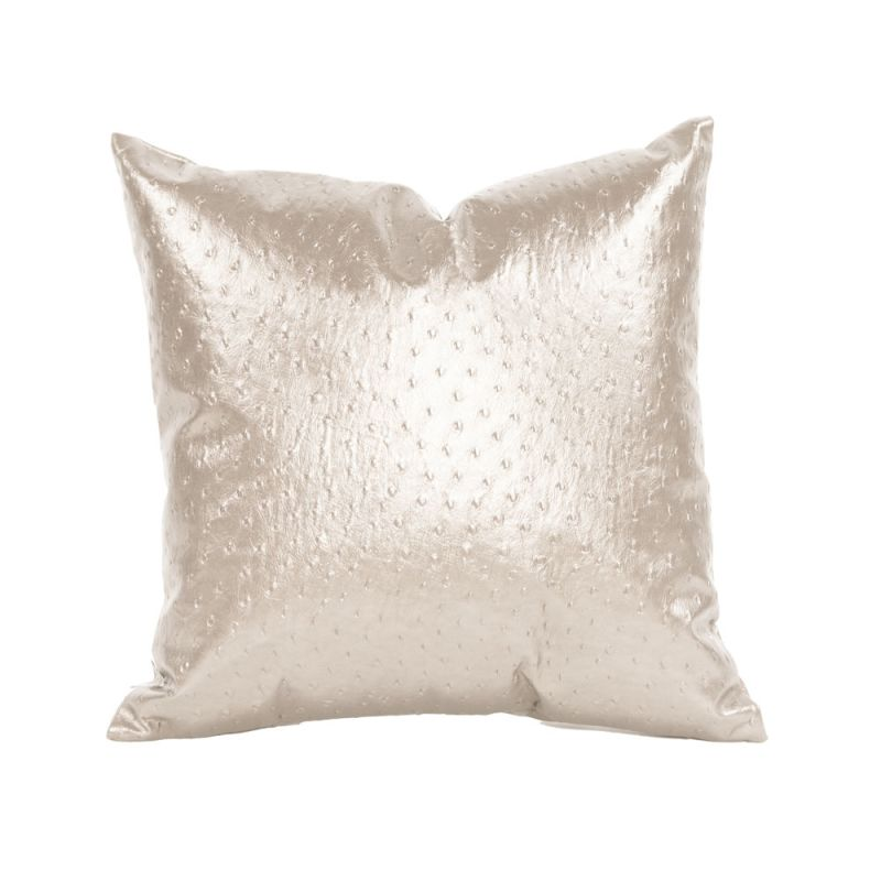 Howard Elliott 1-262 16 X 16 Square Pillow Ostrich Pearl Home Decor